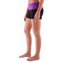 Yogashort in katoen uit biologische teelt, voor dames - 415783