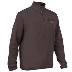 高領狩獵立領針織衫300-黑色