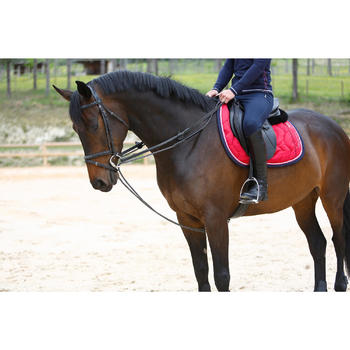 Rênes allemandes cuir et corde équitation cheval ROMEO - 417014