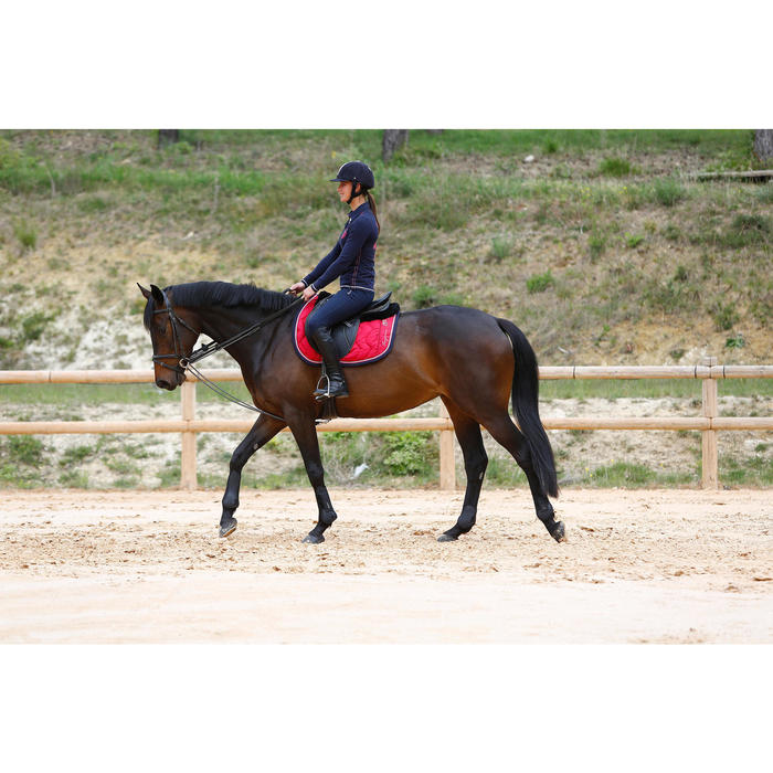 Rênes allemandes cuir et corde équitation cheval ROMEO - 417015