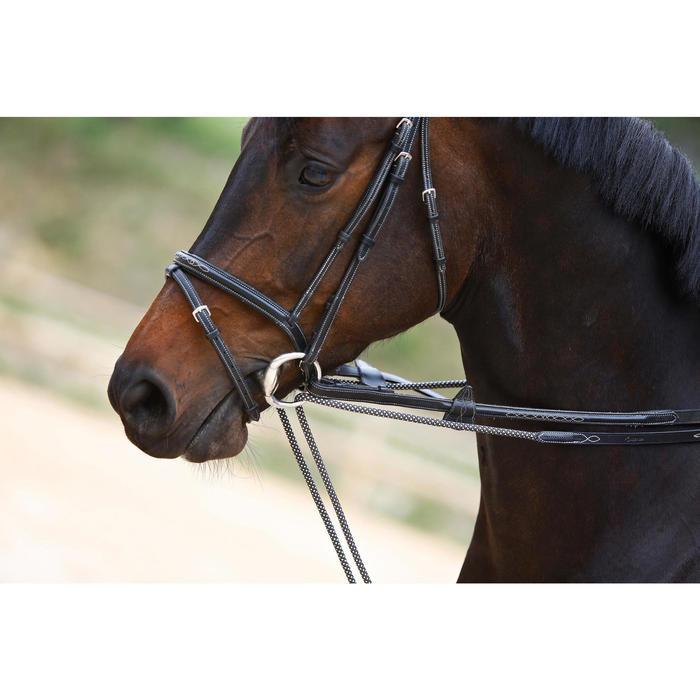 Rênes allemandes cuir et corde équitation cheval ROMEO marron