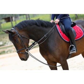 Rênes allemandes cuir et corde équitation cheval ROMEO - 417017
