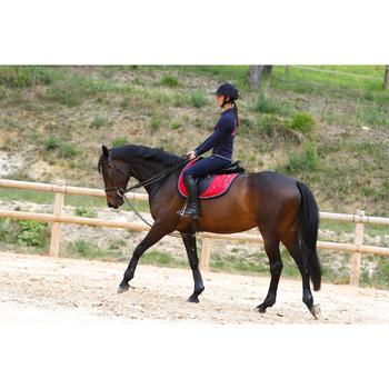 Riendas Alemanas de equitación piel y cuerda caballo ROMEO negro
