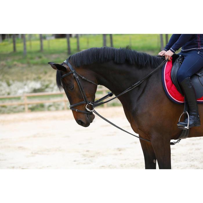 Rênes allemandes cuir et corde équitation cheval ROMEO - 417019