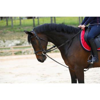 Slofteugels Romeo ruitersport leer en koord bruin voor paarden