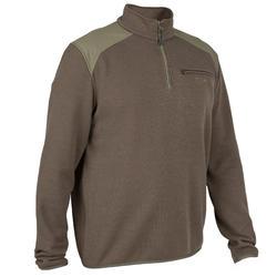 高領狩獵立領針織衫300-綠色