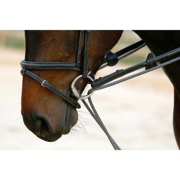Rênes allemandes cuir et corde équitation cheval ROMEO - 417020
