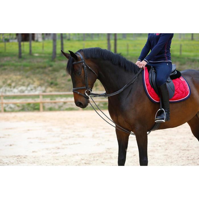 Rênes allemandes cuir et corde équitation cheval ROMEO - 417021