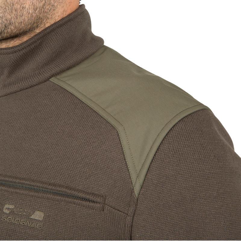 Sweater caza 300 cuello alto verde