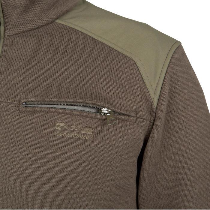 Jersey caza 300 cuello alto verde Solognac  2f4da739b107