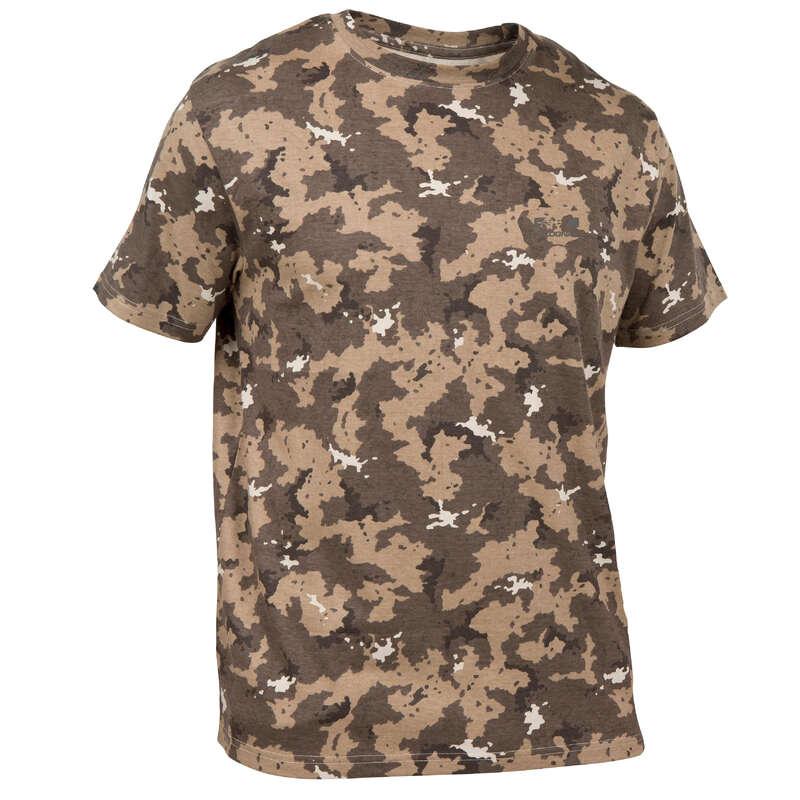 T-SHIRTS POLOS CAÇA T'Shirts Solognac 100 Camufladas - T-shirt Caça 100 Castanho SOLOGNAC - folheto caça 2020