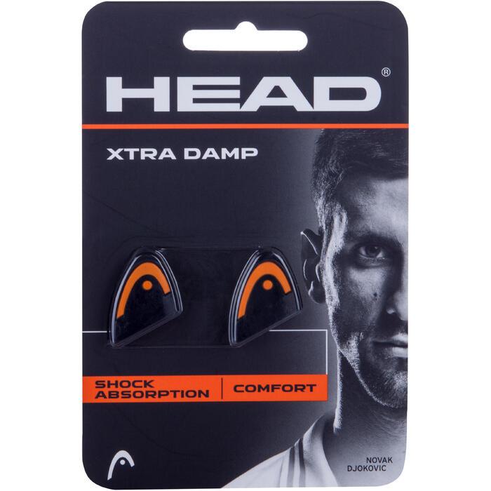 Trillingdemper tennis Xtra Damp zwart/oranje