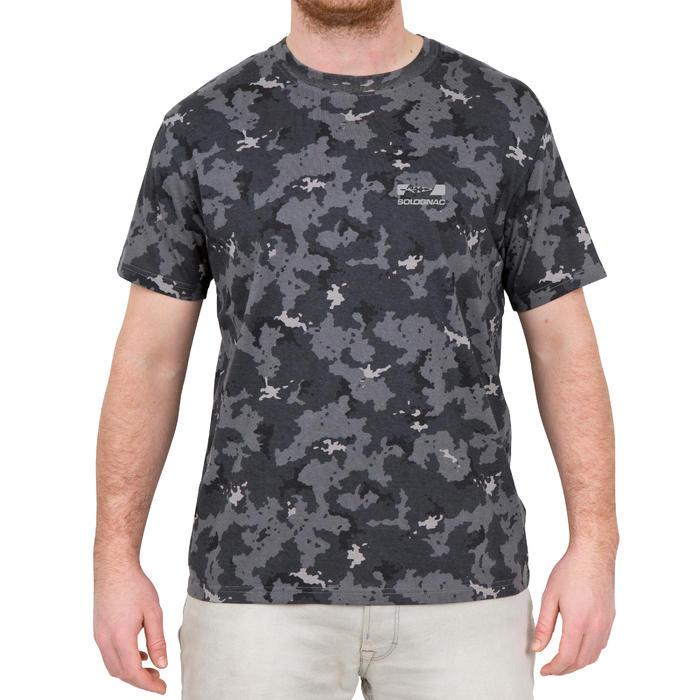 Camiseta de caza de manga corta 100 camuflaje gris