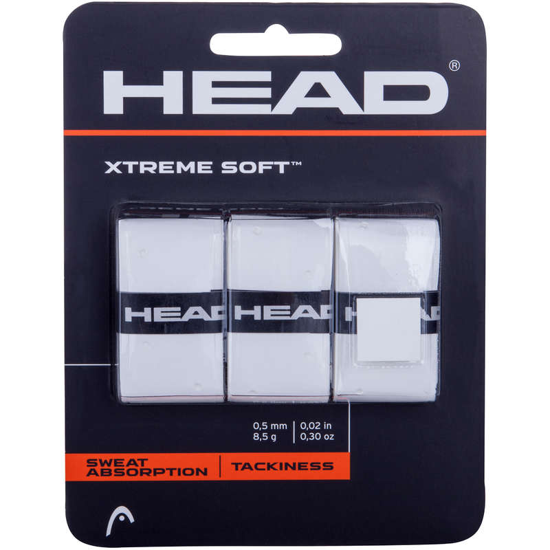 RACKETS ACCESSORIES Squash - Overgrip Xtreme Soft HEAD - Squash WHITE