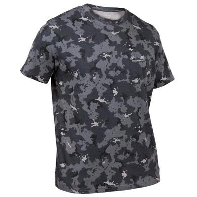 Camiseta Caza Solognac SG 100 Hombre Adulto Manga Corta Camuflaje Gris