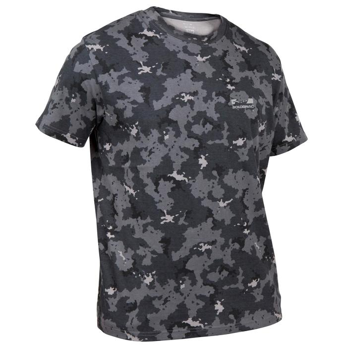 T-shirt de Caça 100 Camuflado Cinzento
