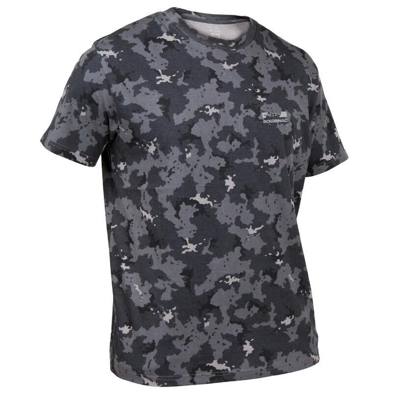 T-shirt met korte mouwen voor de jacht 100 camouflage grijs