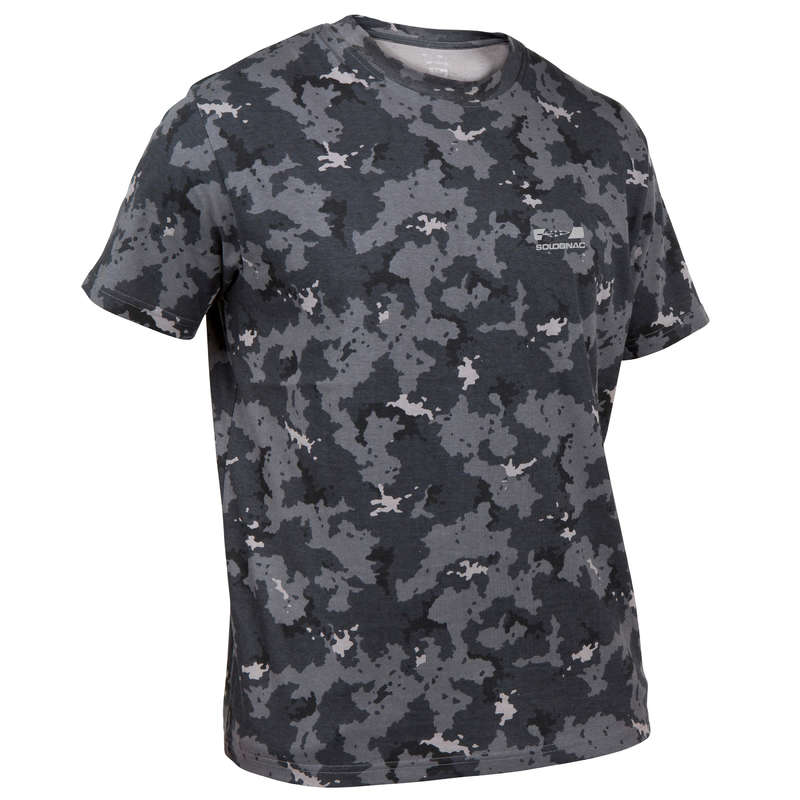 T-SHIRTS/POLOS Shooting and Hunting - STEPPE 100 T-SHIRT CAMO ISLAND SOLOGNAC - Hunting and Shooting Clothing