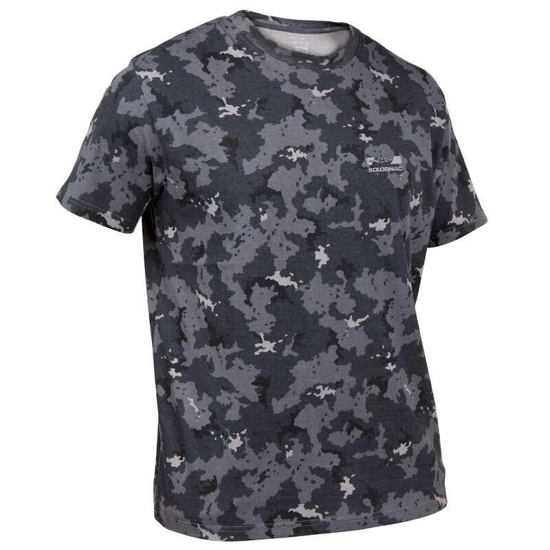 TRICOURI/POLO-URI VÂNĂTOARE Imbracaminte - Tricou Vânătoare 100 Gri SOLOGNAC - Imbracaminte