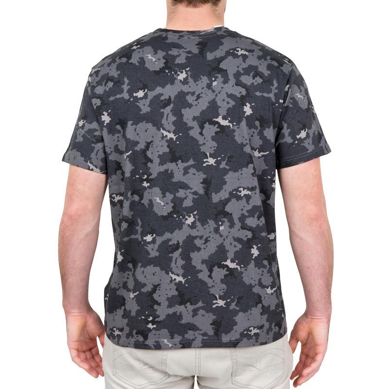 เสื้อยืดแขนสั้นสำหรับส่องสัตว์รุ่น 100 (สีเทาลายพราง)