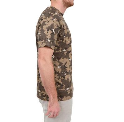 Camiseta Solognac SG 100 Hombre Adulto Manga Corta Camuflaje Marron Beige