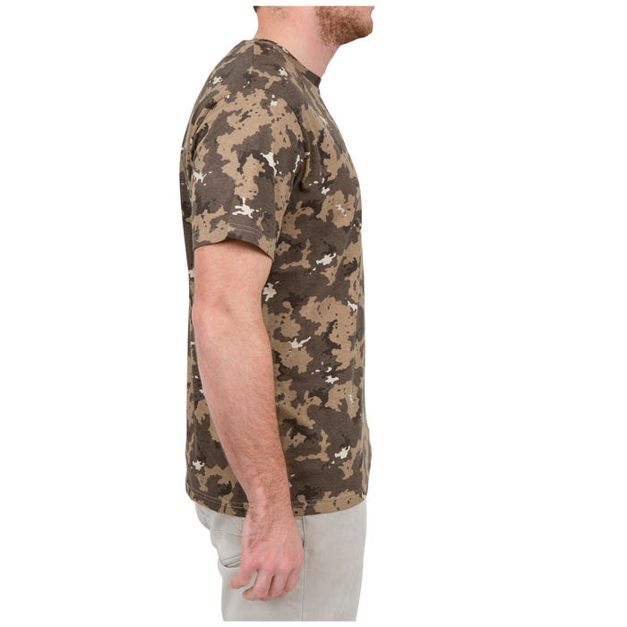 Jagd-T-Shirt Kurzarm SG100 braun Camouflage