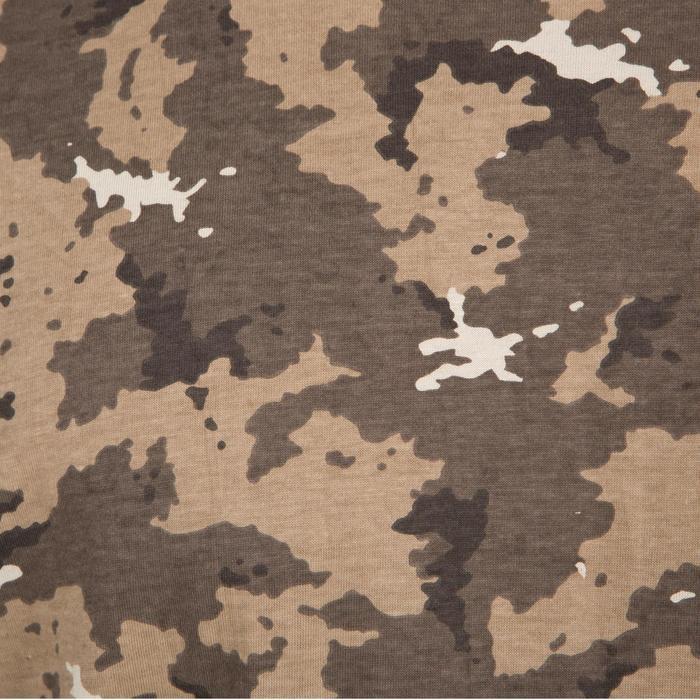 Camiseta de caza de manga corta 100 camuflaje marrón