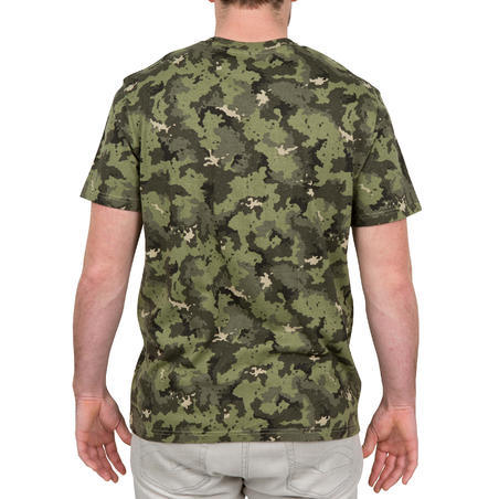 100 Short-Sleeved Hunting T-Shirt - Camouflage Green