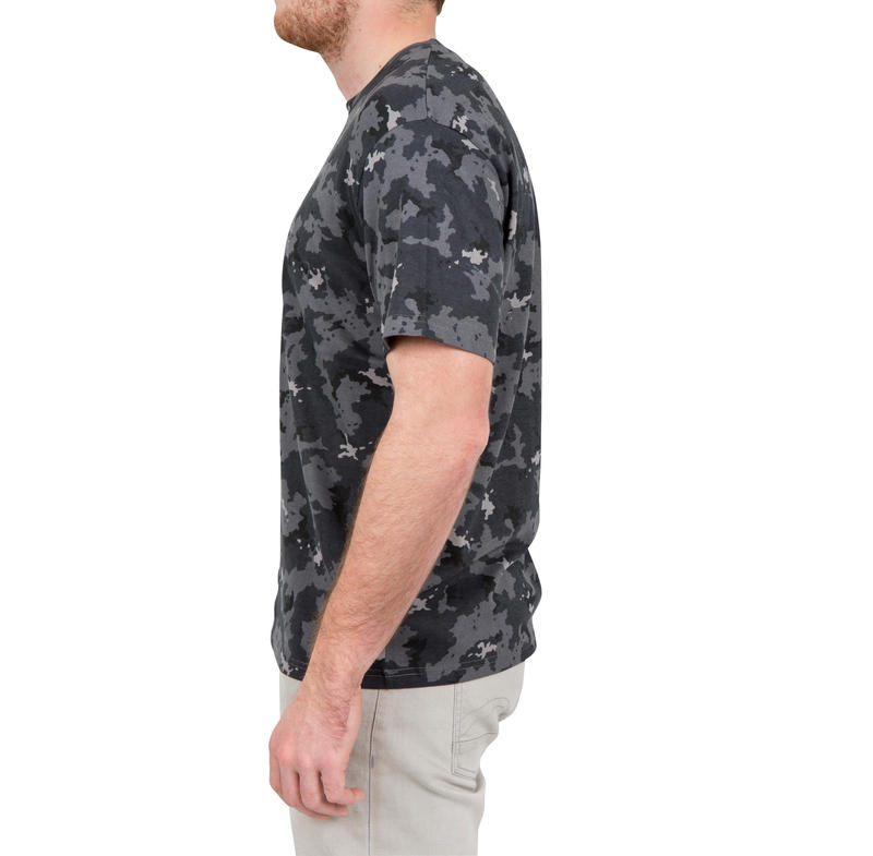 WILD DISCOVERY Short-Sleeve T-Shirt 100- Camouflage Grey