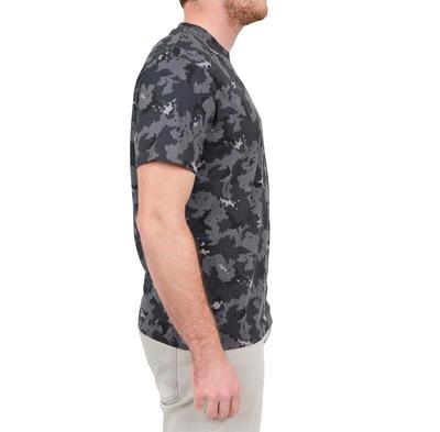 Camiseta caza camuflaje Steppe 100 ISLAND negro
