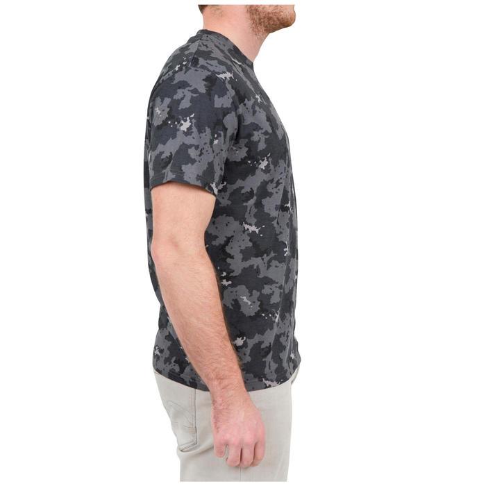Jagd-T-Shirt Kurzarm SG100 Camouflage Island grau