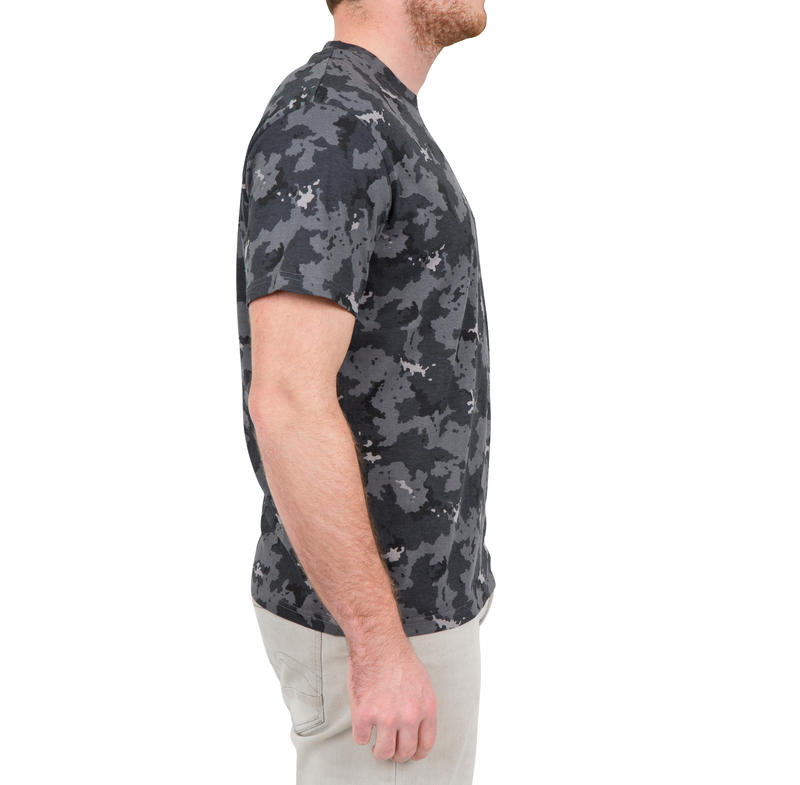 T-shirt manches courtes chasse 100 camouflage gris