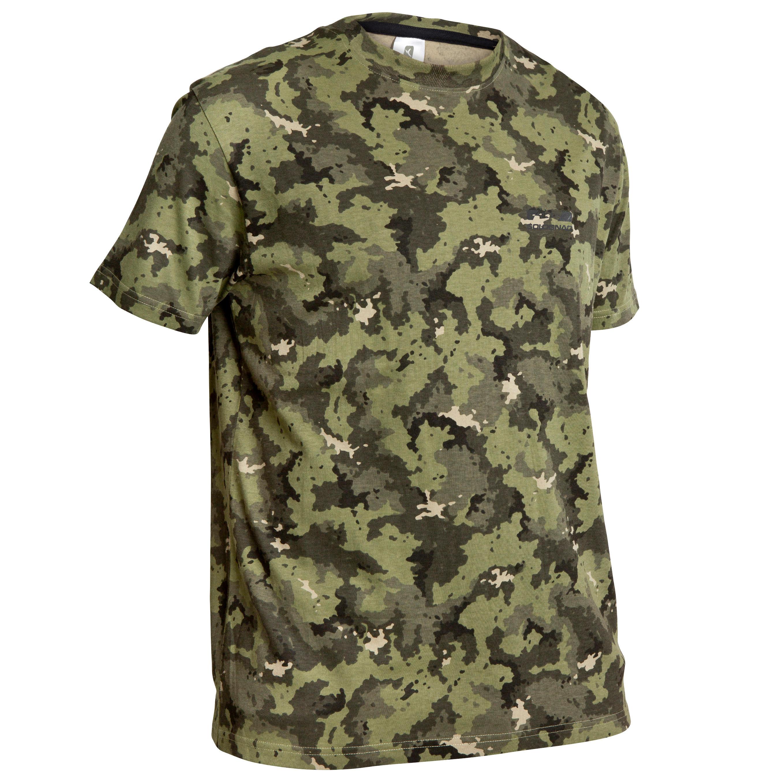 Camiseta caza Steppe 100 ISL verde