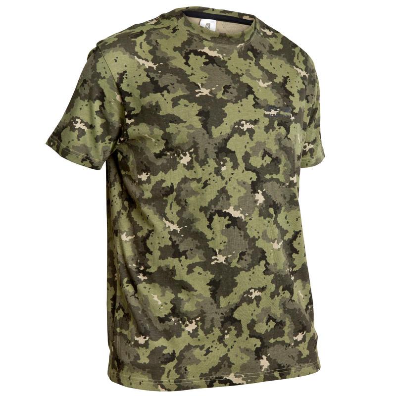 Camiseta SG100 Manga Corta Camuflaje Verde