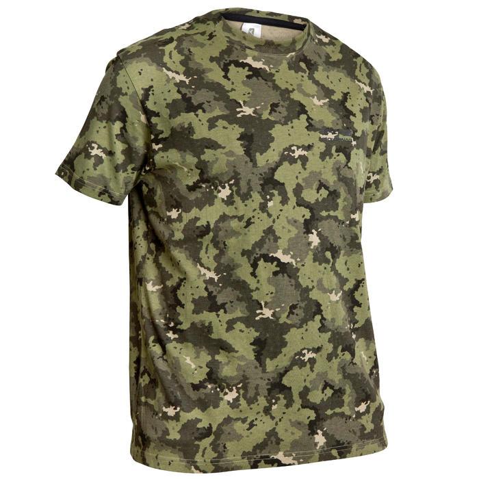 Jagd-T-Shirt 100 Camouflage grün
