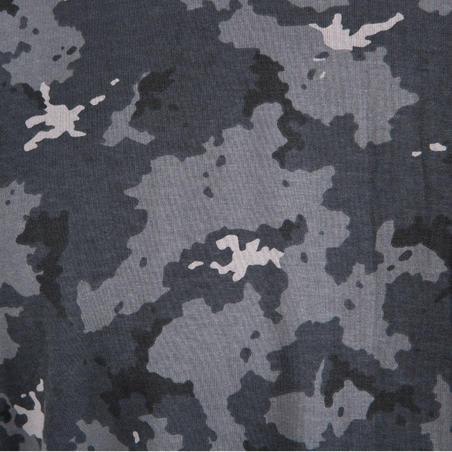 100 Short-Sleeve Hunting T-Shirt - Camouflage Grey
