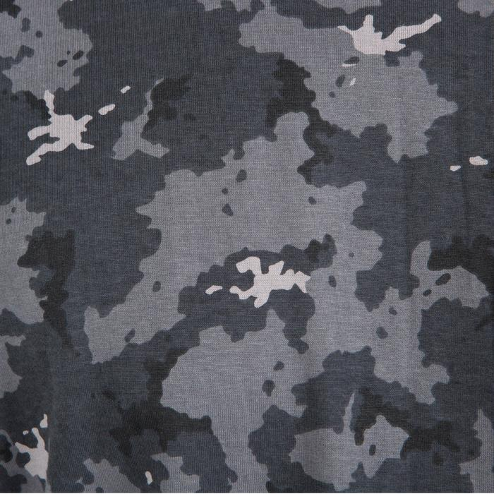100 Short-Sleeve Hunting T-Shirt - Camouflage Grey