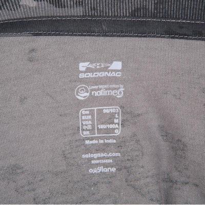 Футболка 100 для полювання, з коротким рукавом - Сірий камуфляж