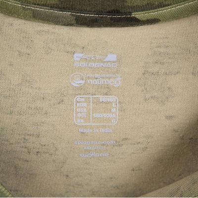 Camiseta Solognac SG 100 Hombre Adulto Manga Corta Camuflaje Verde