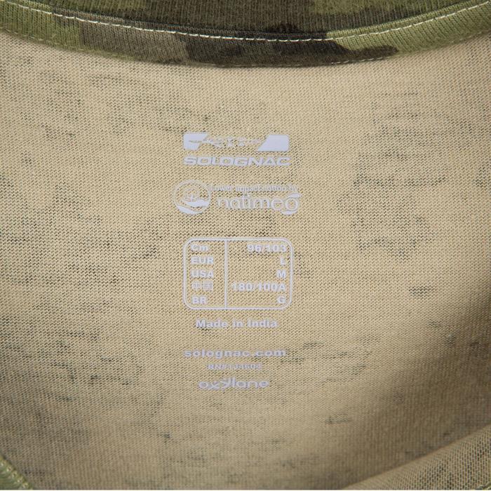T-shirt de Caça 100 Camuflado Verde