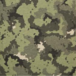 Camiseta Caza Solognac SG 100 Adulto Manga Corta Camuflaje Island Verde