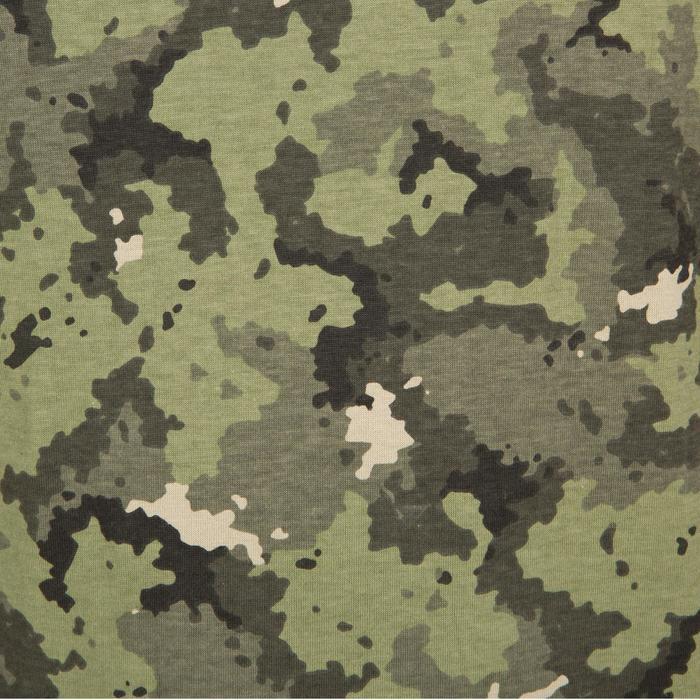 Jagd-T-Shirt Kurzarm SG100 Camouflage Island grün