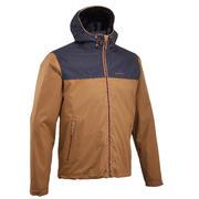 Moška vodoodporna pohodniška jakna NH100 – rjavo-modra