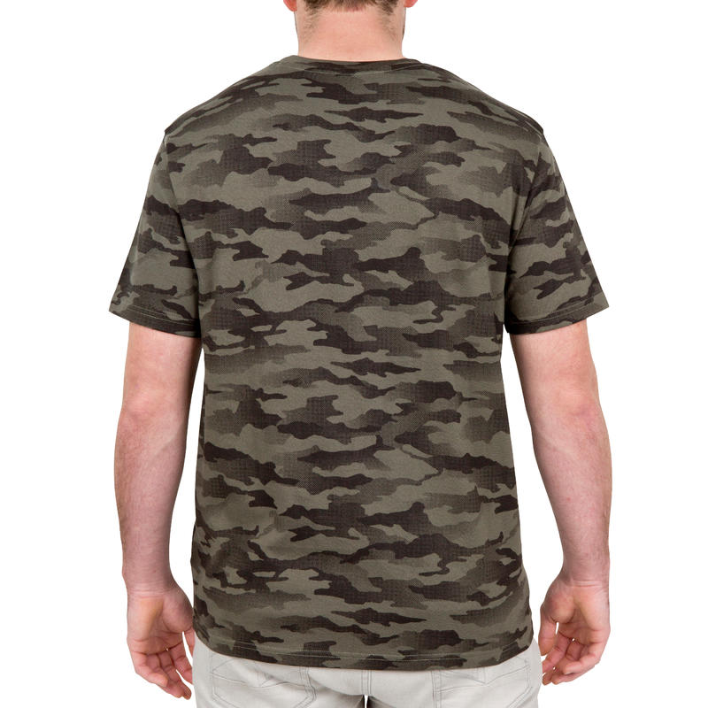 Steppe 100 short sleeved t-shirt camouflage khaki