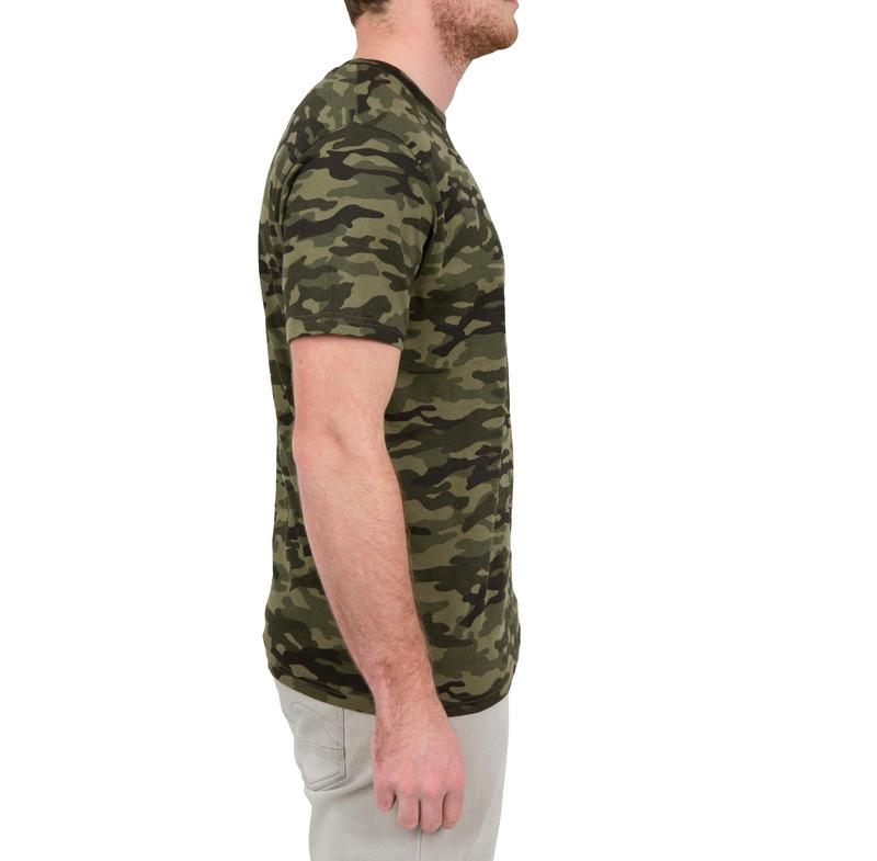 เสื้อยืดแขนสั้นรุ่น SG100 (สีเขียวลายพราง)