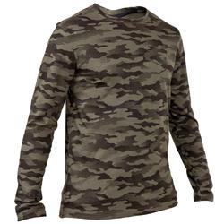 T-shirt Steppe 100 met lange mouwen camouflage Island - 41762