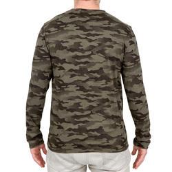 T-shirt Steppe 100 met lange mouwen camouflage Island - 41763