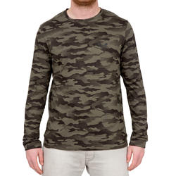 T-shirt Steppe 100 met lange mouwen camouflage Island - 41764
