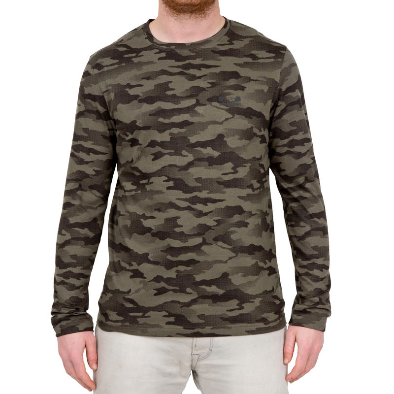 Men's Full Sleeve T-Shirt 100 Half-Tone Camo