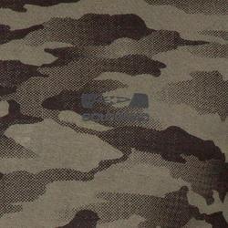 T-shirt Steppe 100 met lange mouwen camouflage Island - 41767